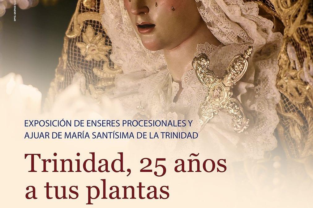 """Mañana, inauguración de la exposición """"Trinidad, 25 años a tus plantas"""""""