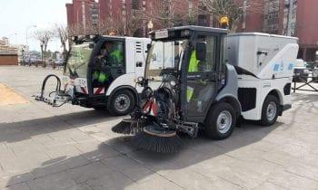 Esta mañana se ha presentado dos nuevas máquinas para la concejalía de Limpieza