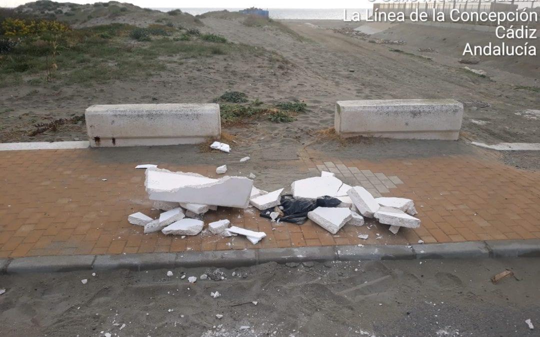 Actos vandálicos esta noche en las nuevas papeleras instaladas en Sobrevela