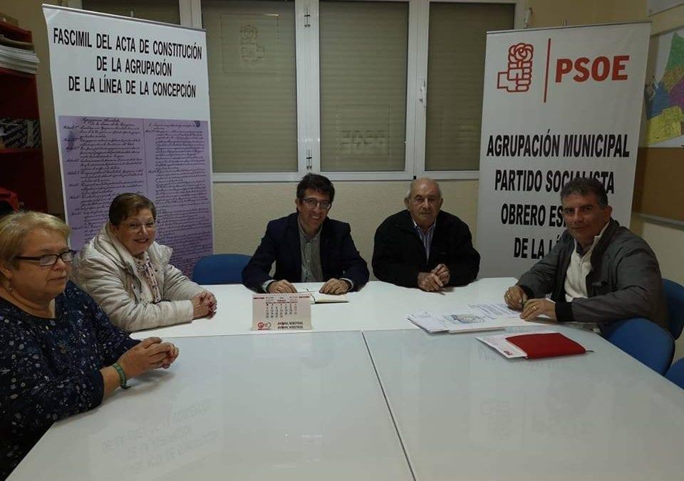 El PSOE de La Línea mantiene una reunión con la asociación ALDEPAMA