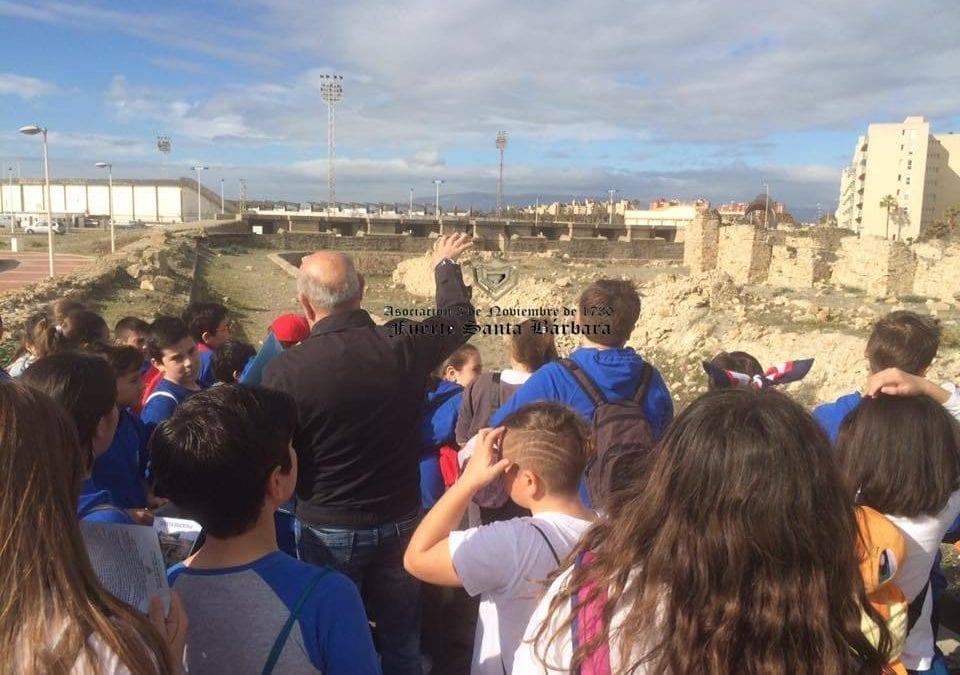 """Mas de mil doscientos escolares de primaria participan en el programa de la oferta educativa """"Visita al Fuerte de Santa Bárbara"""""""