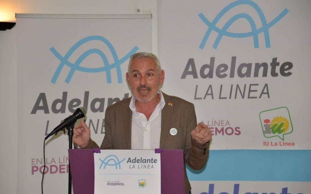 En la tarde de ayer, se celebró en la Unión Deportiva Linense, la presentación de Fran Dorado como candidato a la alcaldía por Adelante La Línea