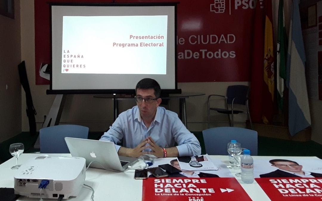 El PSOE de La Línea presenta su programa electoral, con 106 medidas para un nuevo modelo de ciudad