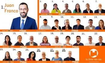 "Juan Franco destaca la ""diversidad de sectores"" que abarca la lista electoral de La Línea 100×100"