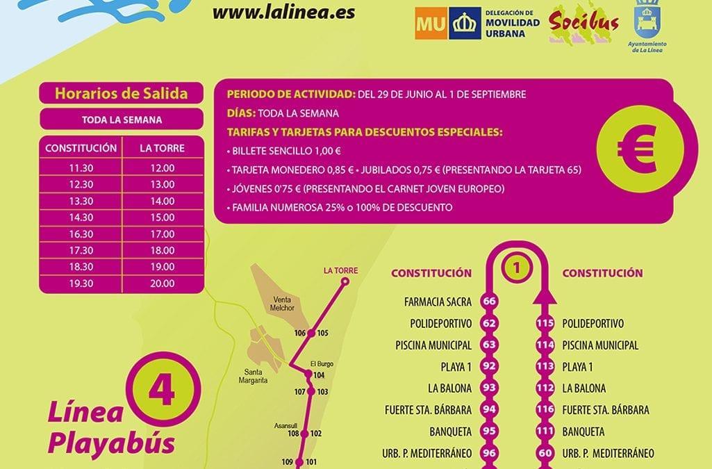 """Se inicia la nueva línea de autobuses """"PlayaBús"""" que enlazará el centro de la ciudad con el litoral de levante hasta Torrenueva"""