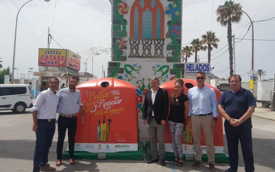 Catorce casetas participan en la campaña de reciclaje de Ecovidrio durante la feria impulsada por Arcgisa y el Ayuntamiento de La Línea