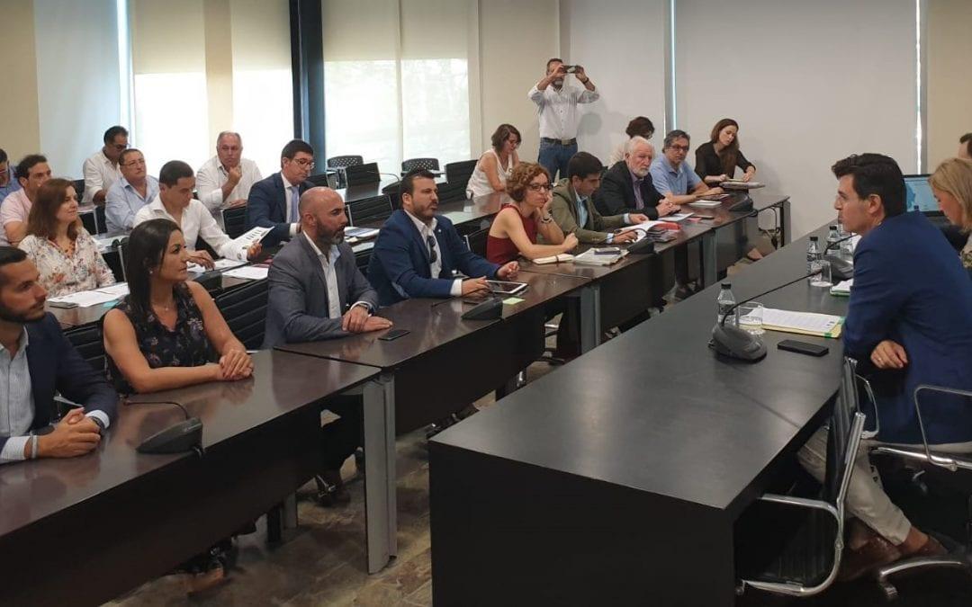 El ayuntamiento asiste a la exposición del diagnóstico del plan preliminar de transportes metropolitano del Campo de Gibraltar