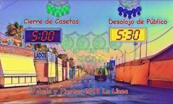 Un bando establece el horario máximo de cierre de casetas de la Velada y Fiestas de La Línea será a las 5.00 horas