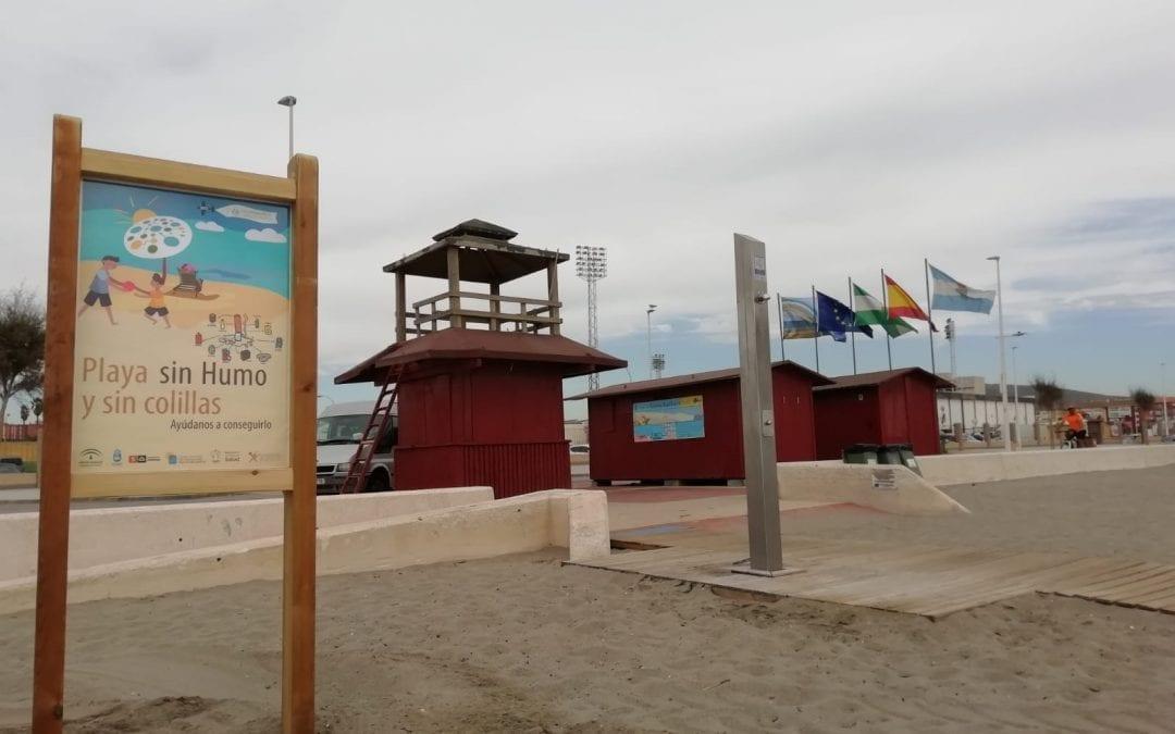 La Playa de Santa Bárbara, primera en la comarca en contar con una zona libre de humo