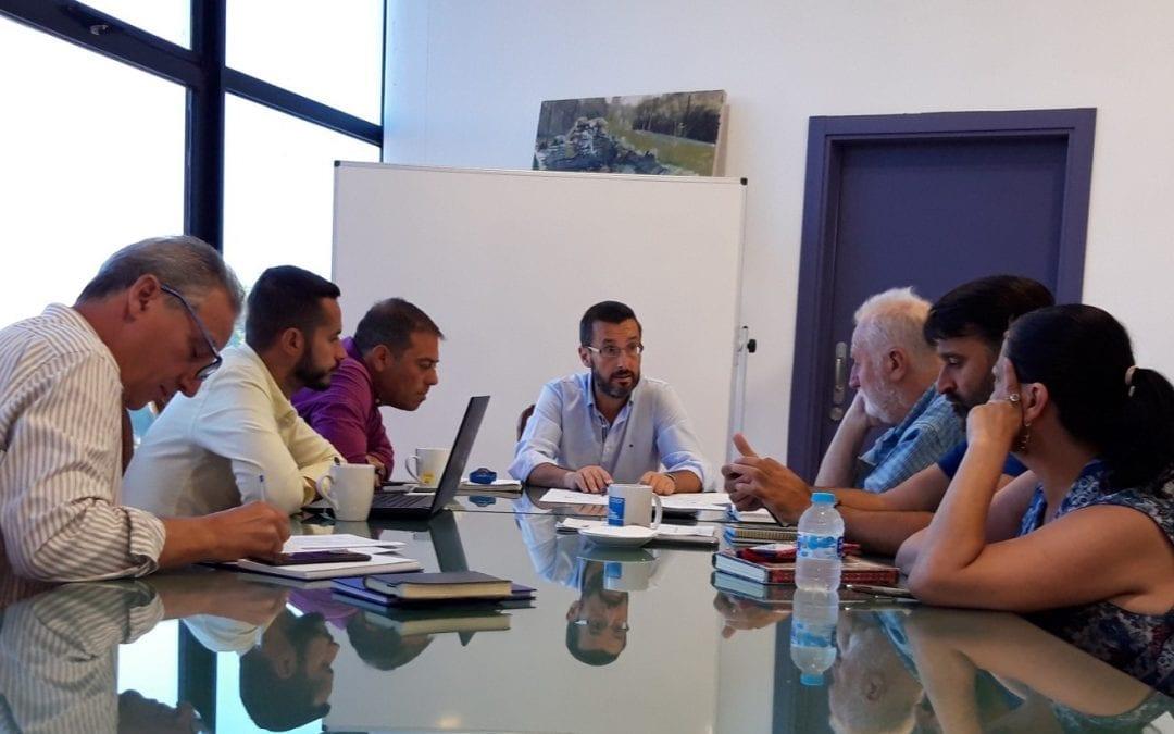 Juan Franco analiza con sus tenientes de alcalde el estado de licitación de diferentes proyectos y el desarrollo de la II fase de peatonalización del centro