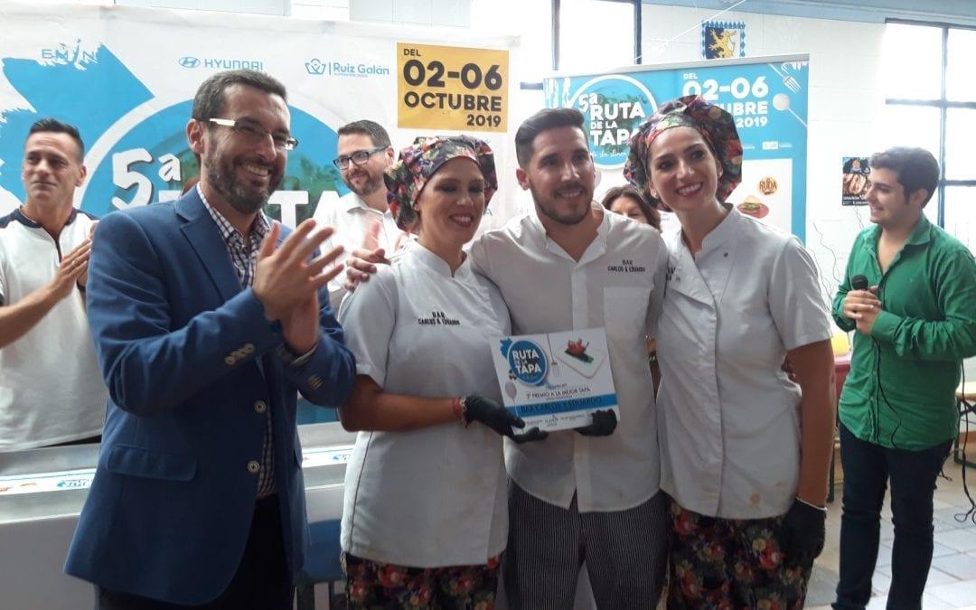 El alcalde ha participado esta mañana en la entrega de premios de la Ruta de la Tapa