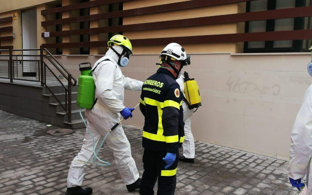 Limpieza incide en los trabajos de desinfección en las zonas interiores y exteriores de la frontera