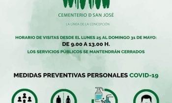 El cementerio municipal permitirá visitas de 9 a 13 horas a partir del lunes