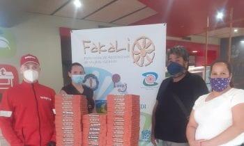 Zuleica Molina agradece la donación que Telepizza ha realizado a Fakali