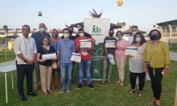 Javier Vidal felicita a los seis deportistas del Grupo Asansull que han obtenido becas provinciales de la Diputación de Cádiz