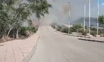 Gran Incendio hace unas horas en Santa Margarita.