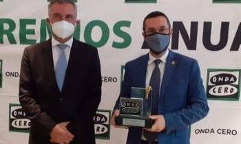 Juan Franco agradece el premio 'persona del año' otorgado por Onda Cero