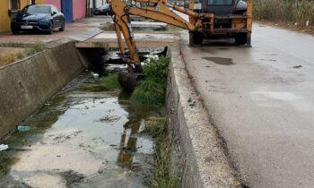 Raquel Ñeco supervisa la limpieza de arroyos y canales del Zabal para prevenir inundaciones